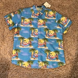 SSLR Men's Xmas Holiday Button Down Shirt XL NWT